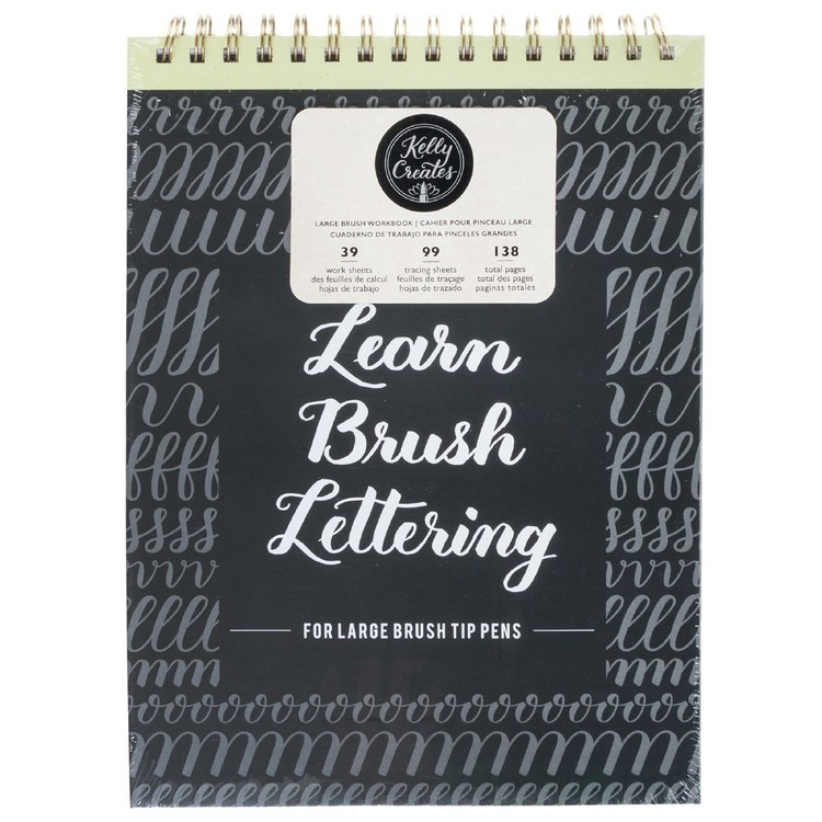 Kelly Creates Large Brush Lettering Workbook