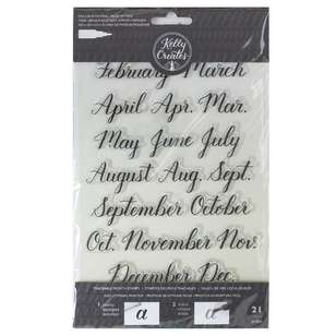 Kelly Creates Months Traceable Acrylic Stamps
