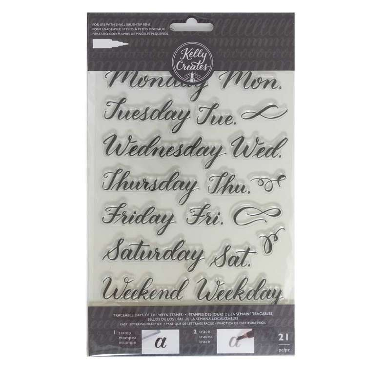Kelly Creates Days of the Week Traceable Acrylic Stamps