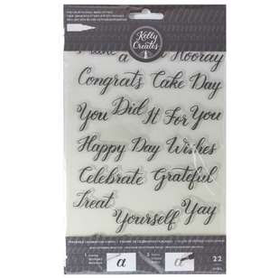 Kelly Creates Celebration Traceable Acrylic Stamps