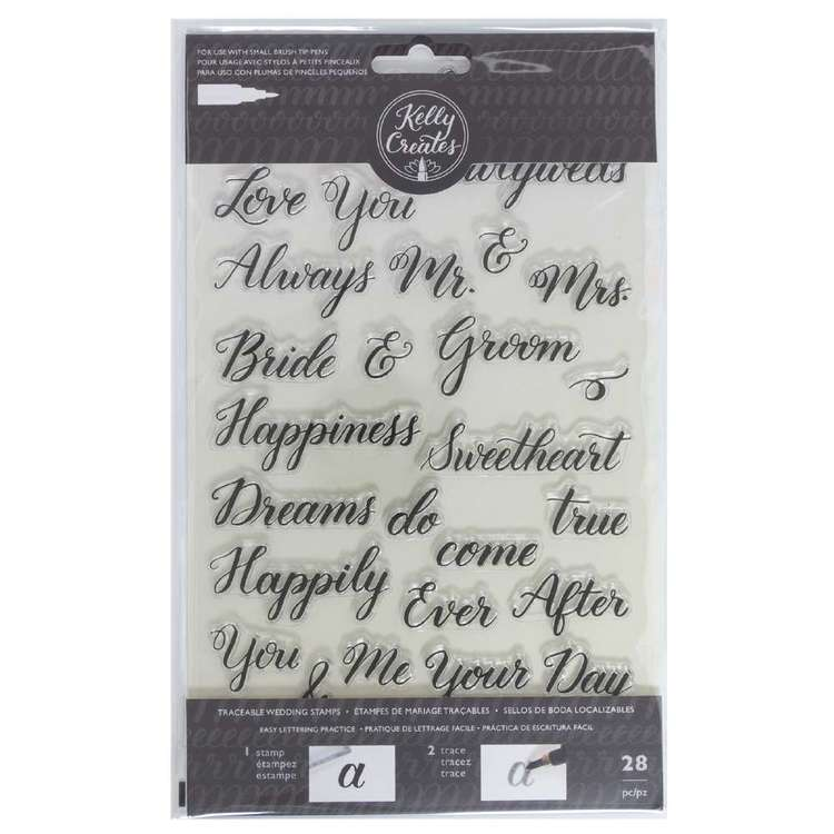 Kelly Creates Wedding Traceable Acrylic Stamps Black
