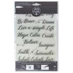 Kelly Creates Quote #3 Traceable Acrylic Stamps