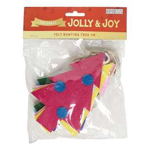 Jolly & Joy Decorate Felt Tree Bunting