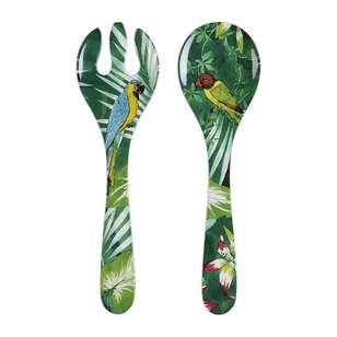 Culinary Co Jungle Salad Server Spoon & Fork