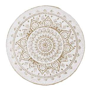 Hot Buy Lewis Mandala Printed Jute Rug