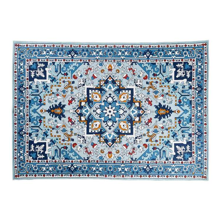 Hot Buy European Holiday Tile Printed Cotton Rug