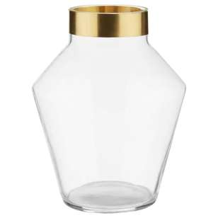 Bouclair Chic Bloom Vase With Gold Rim