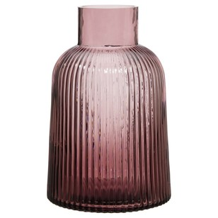 Bouclair Chic Bloom Purple Stripe Vase