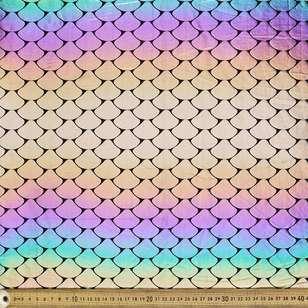 Ombre Mermaid Scale Yaya Han Fabric