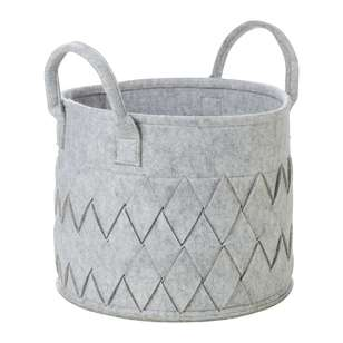 Living Space Felt Story Weave Felt Basket With Handle