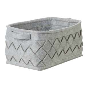 Living Space Rectangular Felt Weave Box