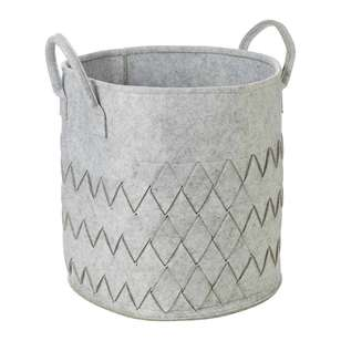 Living Space Felt Weave Hamper