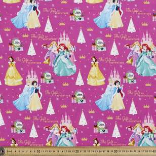 Disney Christmas Princess Allover Cotton Fabric
