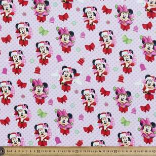 Disney Christmas Minnie Mouse Bells Cotton Fabric