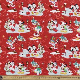 Disney Christmas Friends Cotton Fabric