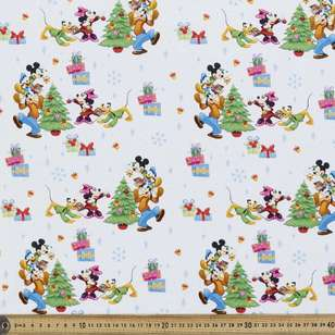 Disney White Christmas Cotton Fabric