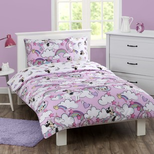 Minnie Mouse Rainbow Quilt Cover Set