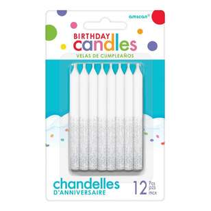 Amscan Glitter Candles 12 Pack