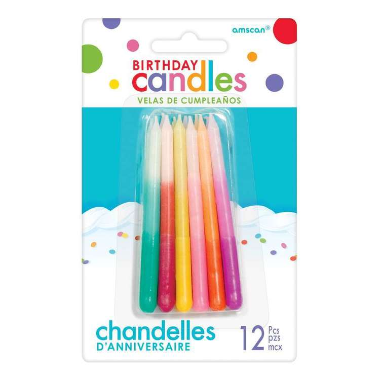 Amscan Ombre Candles 12 Pack