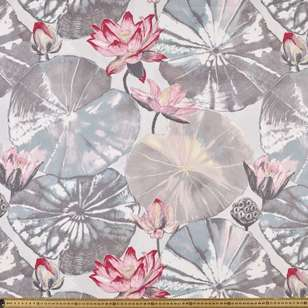 Lily Pad Uncoated Curtain Fabric