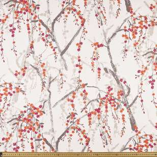 Cherry Blossom Uncoated Curtain Fabric