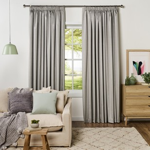 KOO Silk Blockout Pencil Pleat Curtain