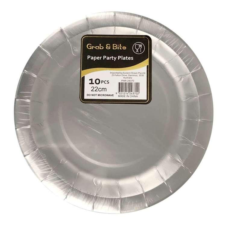 Metallic Paper Plates 10 Pack