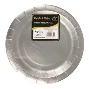 Metallic Paper Plates 10 Pack