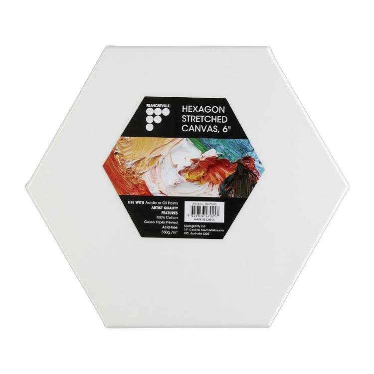 Francheville Hexagon Stretched Canvas