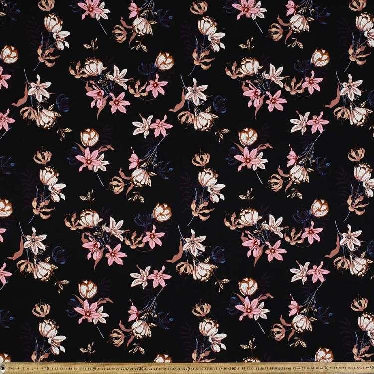 Flower # 2 Rayon Spandex Knit Fabric