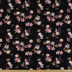 Flower # 2 Rayon Spandex Knit Fabric