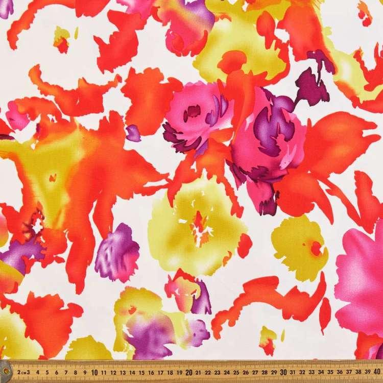 Abstract Rose Printed Rayon Knit Fabric