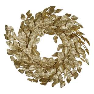 Jolly & Joy Gold Leaf Wreath