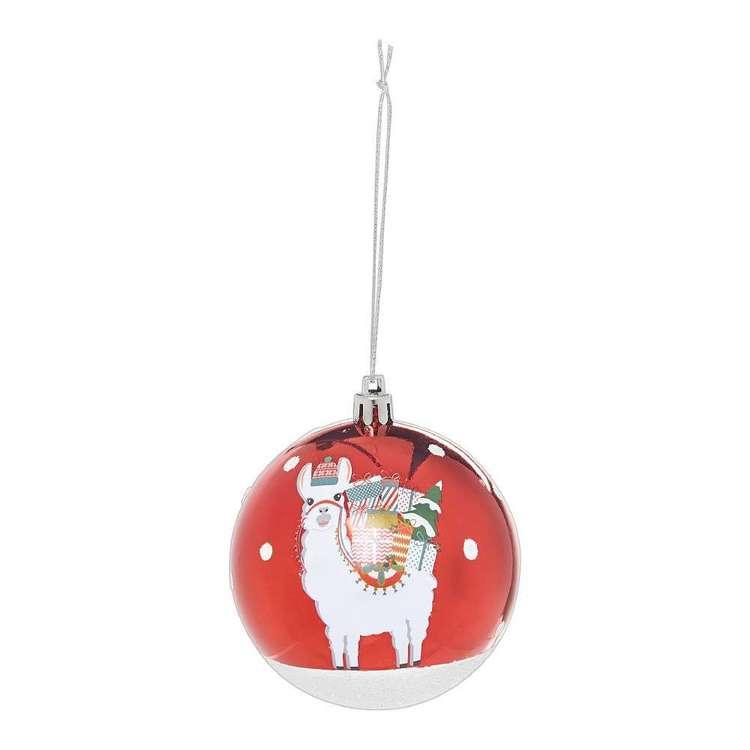 Jolly & Joy Decorate Festive Pop Bauble Decal Llama