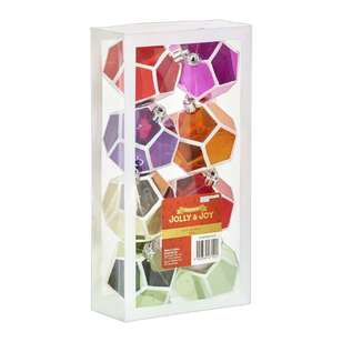 Jolly & Joy Decorate Festive Pop Geo Bauble 8 Pack