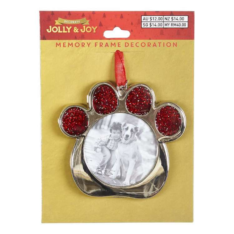 Jolly & Joy Decorate Nostalgic Metal Photo Frame Paw Print