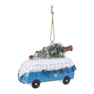 Jolly & Joy Decorate Festive Pop Blue Campervan with Tree