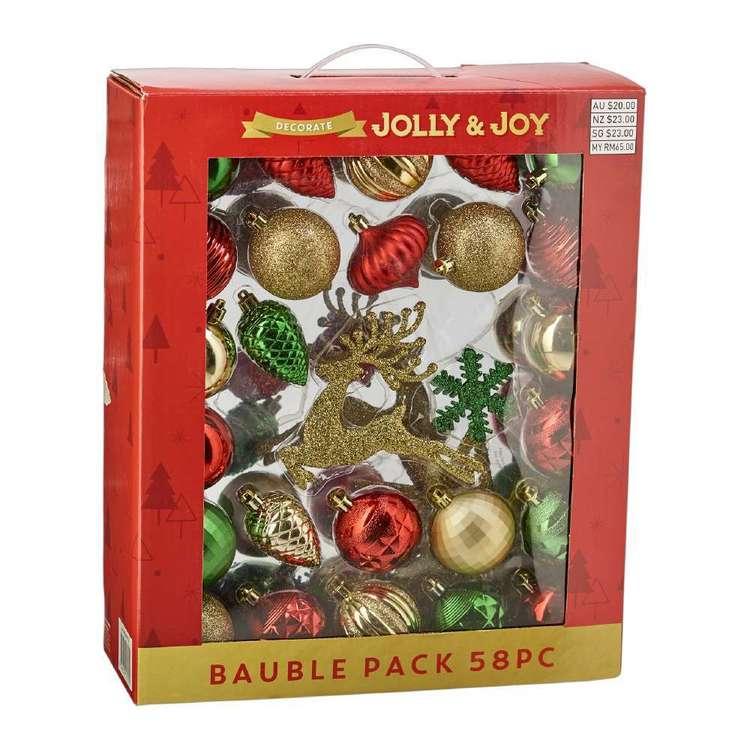 Jolly & Joy Decorate Nostalgic Treasures Bauble 58 Pack