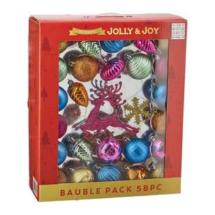 Jolly & Joy Decorate Festive Pop Bauble 58 Pack