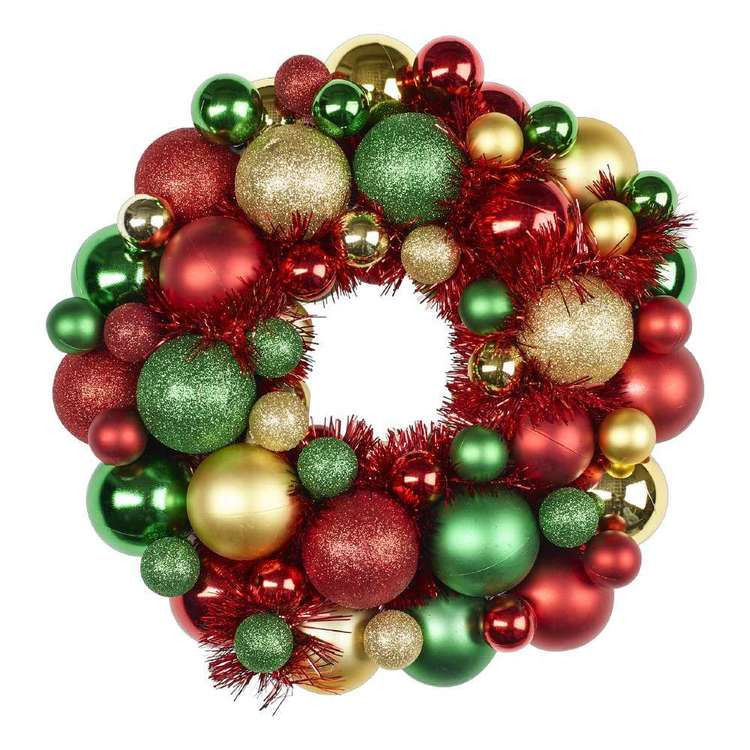 Jolly & Joy Decorate Traditional Bauble Wreath Multicoloured 33 cm