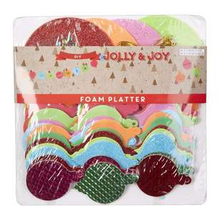 Jolly & Joy DIY Bright Foam Platter