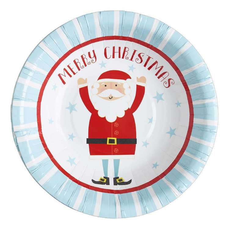 Jolly & Joy Celebrate Santa Paper Bowl 10 Pack Blue