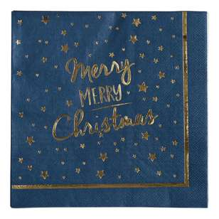 Jolly & Joy Celebrate Gold Star Paper Napkin 16 Pack