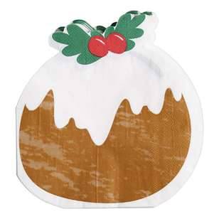 Jolly & Joy Celebrate Pudding Lunch Napkin 20 Pack