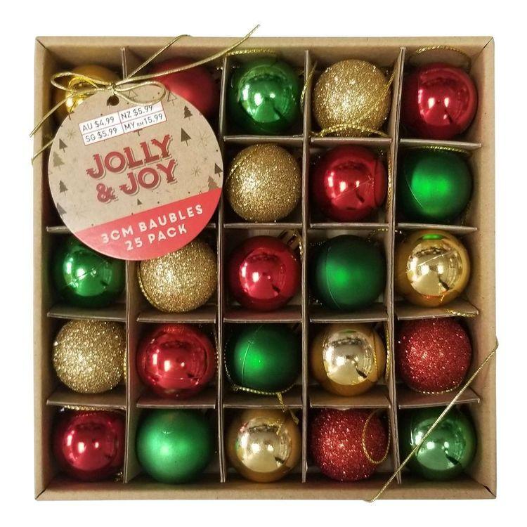 Jolly & Joy Decorate Nostalgic Treasures Mini Baubles 25 Pack