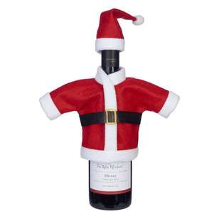 Jolly & Joy Celebrate Felt Santa Suit Bottle Bag