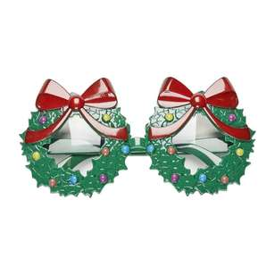 Jolly & Joy Celebrate Wreath Novelty Glasses