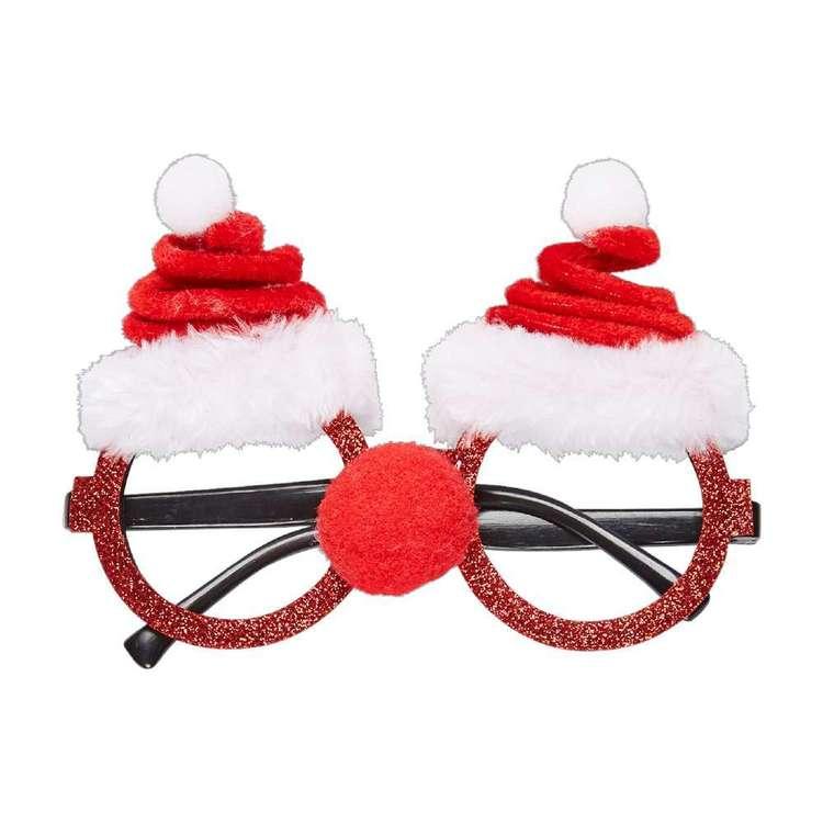 Jolly & Joy Celebrate Santa Hat Novelty Glasses
