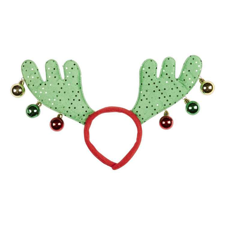 Jolly & Joy Celebrate Antler with Baubles Headband
