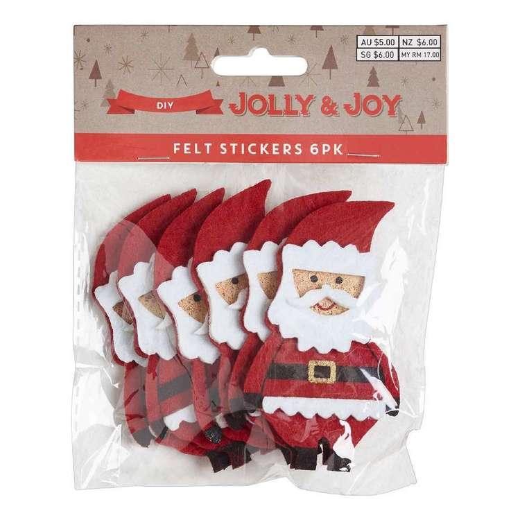 Jolly & Joy DIY Santa Felt Stickers 6 Pack